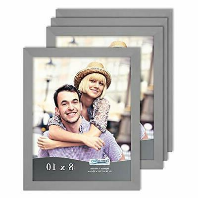 icona bay 8x10 picture frame set gray