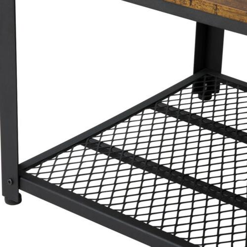 Industrial with Shelf Room Brown