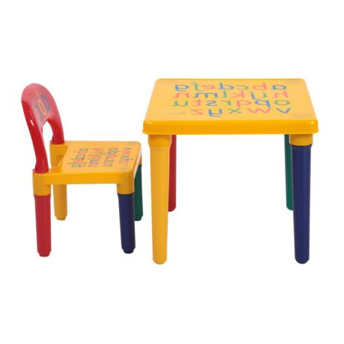 Kids Table Chair Furniture Activity Toddler Toy Gifts