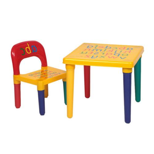 kids plastic table and chair set furniture