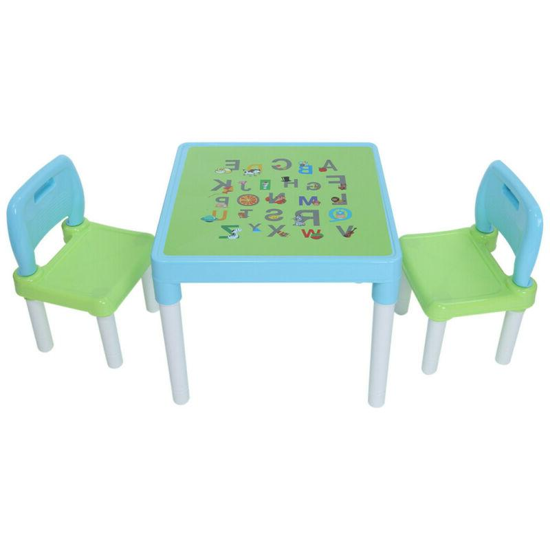 New Style Kids Table and Chairs Play Set Toddler Child Toy A