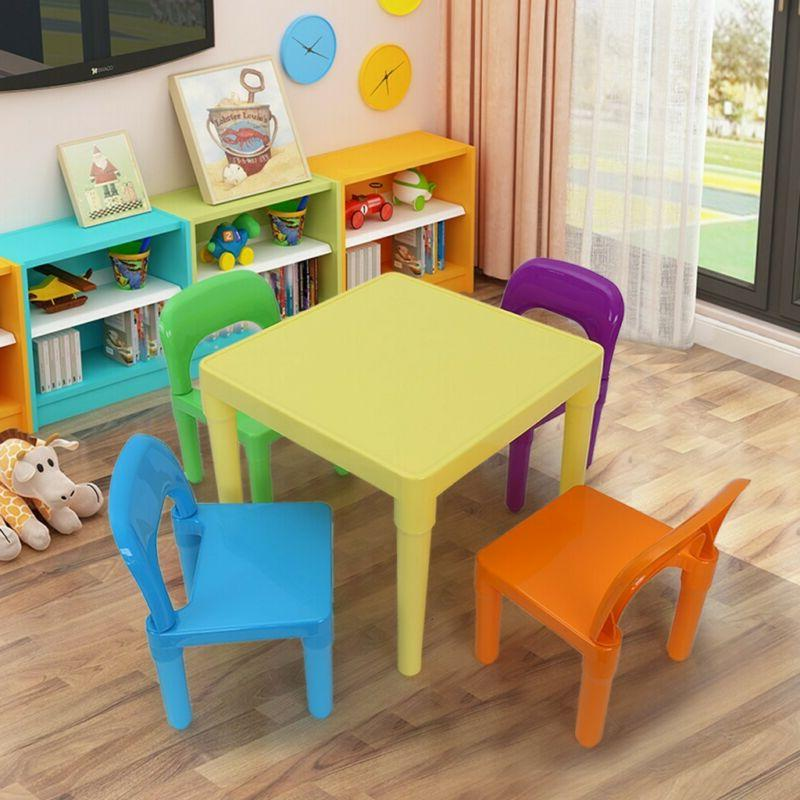 kids table and 4 chairs toddler child