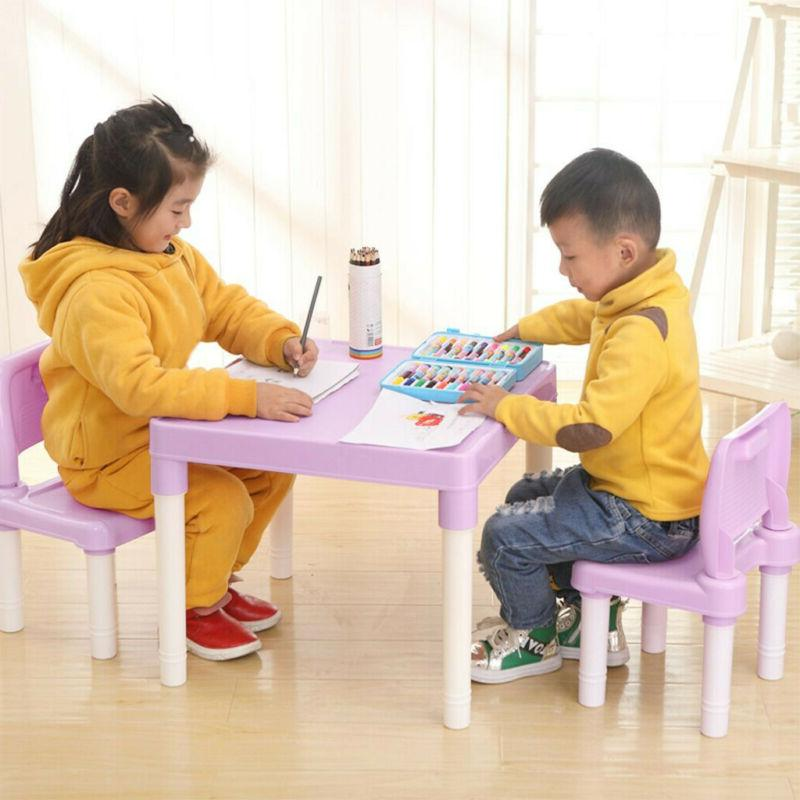 Plastic 2 Chairs Set For Boys Or Girls Toddler