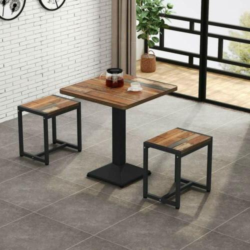 Tribesigns 3-Piece Bistro Table Set, Dining Table Set with S
