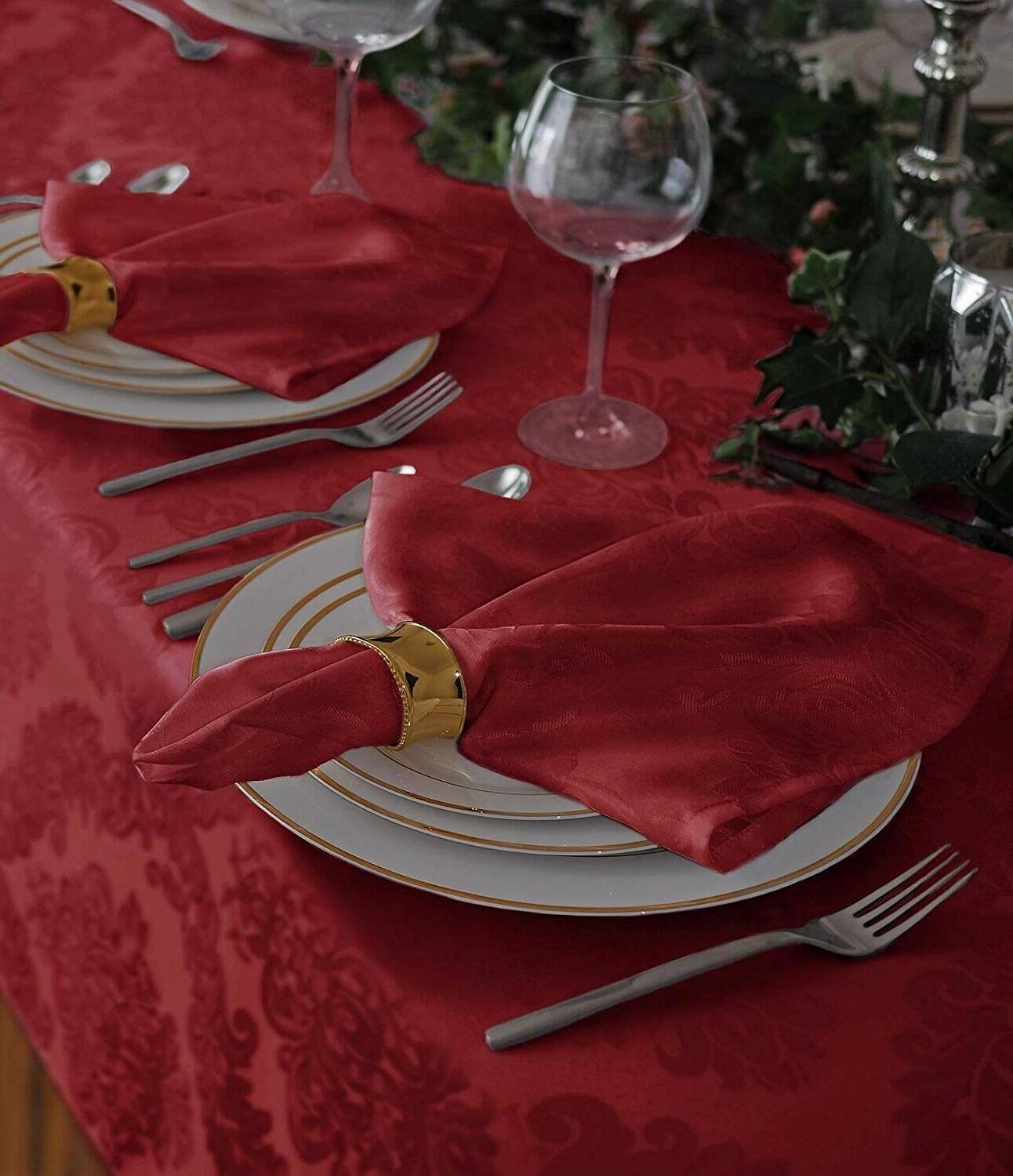 """Tablecloth No 60"""" 144"""" Red"""