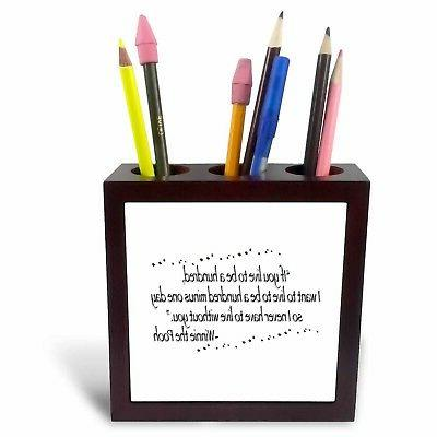 live quotes pen holder desk counter top