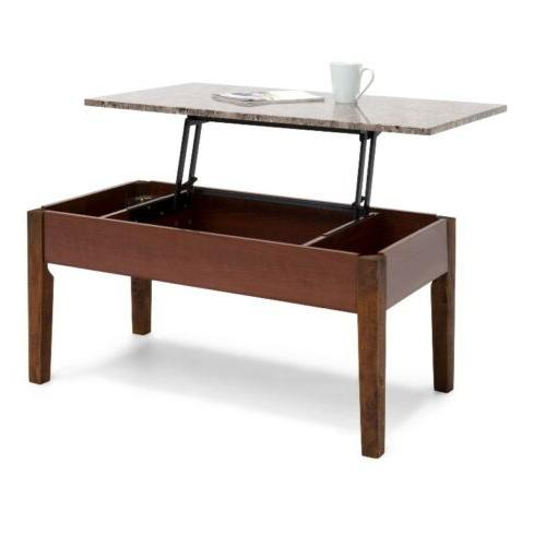 Best Choice Products Living Room Lift-up Coffee Table w/ Inn
