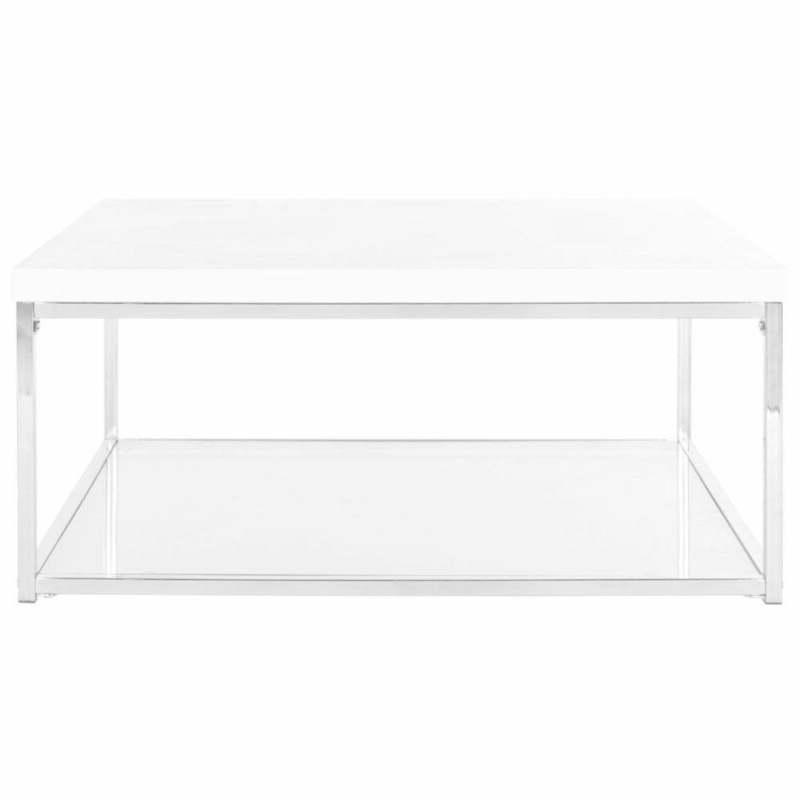 "Safavieh Malone White/ Coffee Table 35.4"" x 35.4"" x 15.7"""