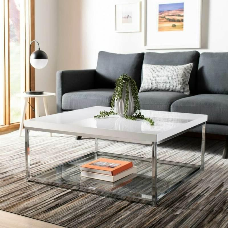malone white chrome coffee table 35 4