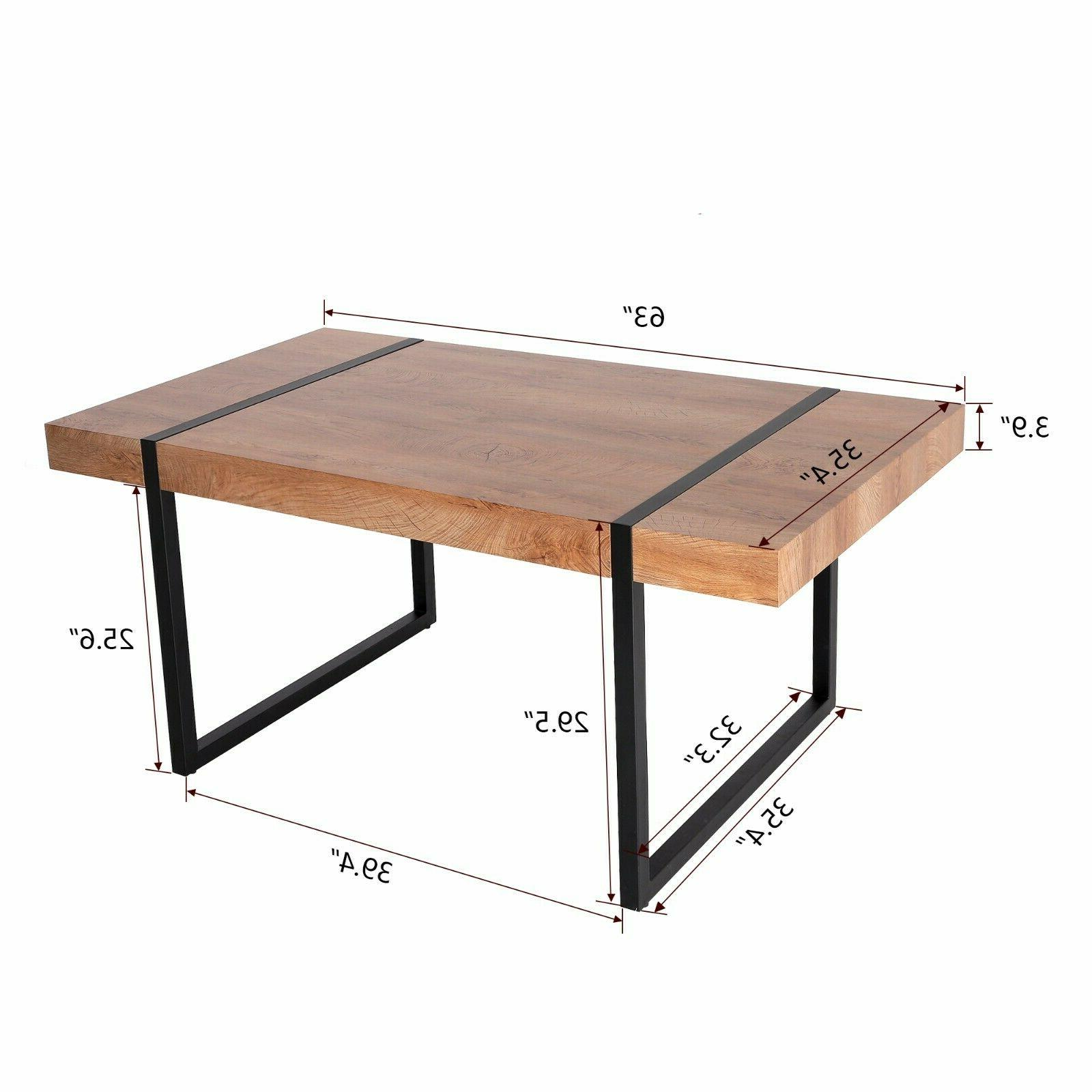Modern Industrial Table Living Dining Room