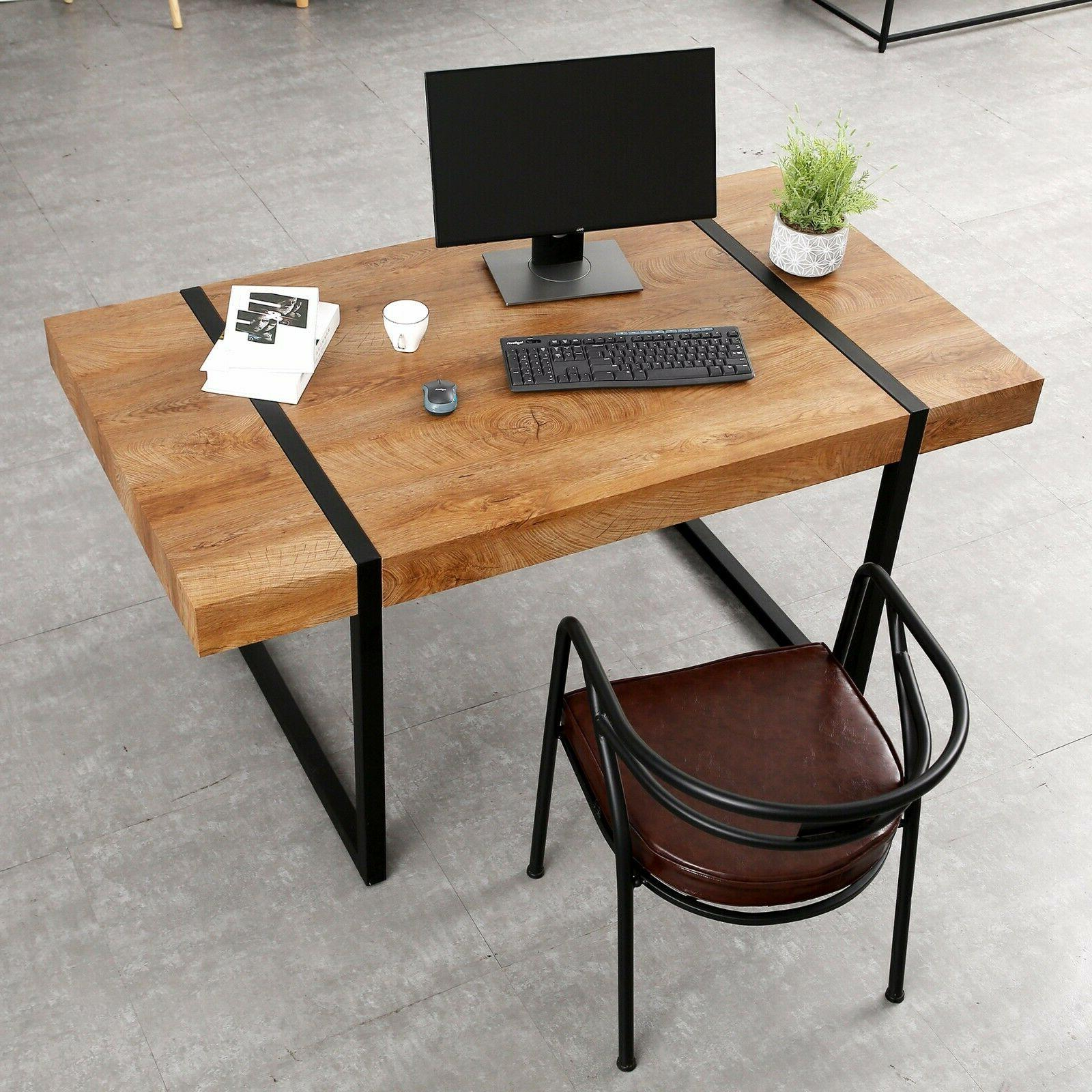modern industrial oversize dining table desk table