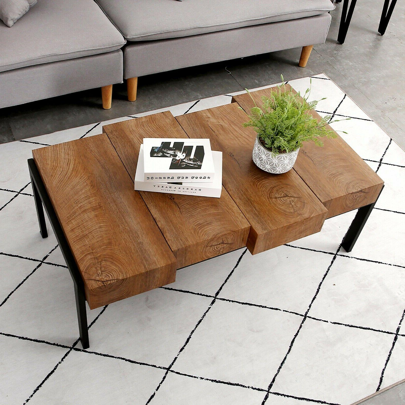 Modern Simple Wood Coffee Table for Living Room Cocktail