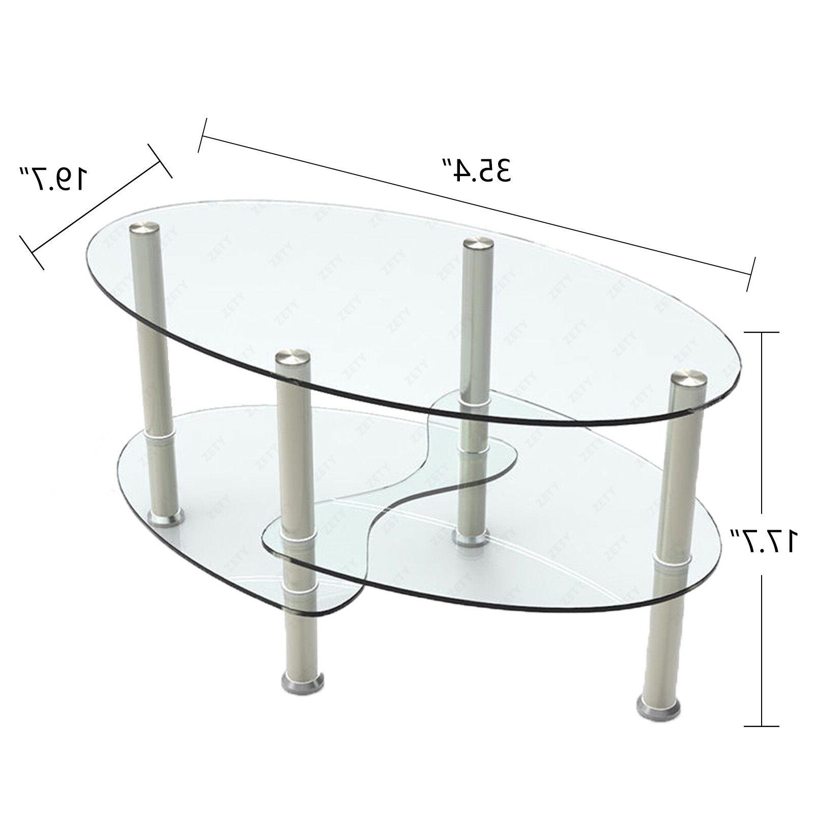 Modern Glass Table End Side Table w/ Living Furniture