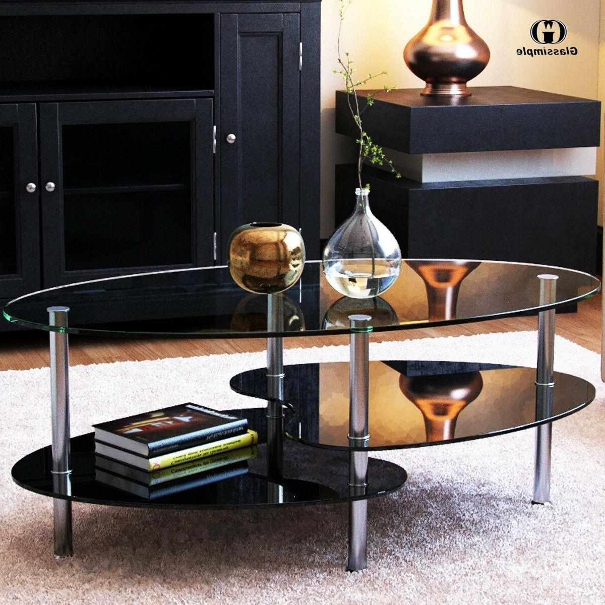 Modern Glass Table End w/ Room