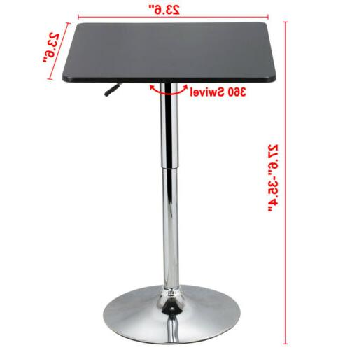 Modern Counter Table Adjustable Bistro Bar Indoor