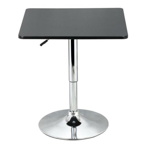 Modern Table Adjustable Pub Bistro Bar Cafe Tables Indoor