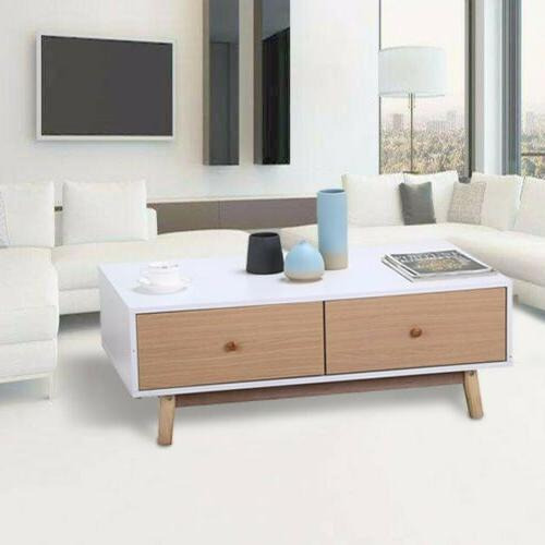 Modern Wood Table End Table Storage