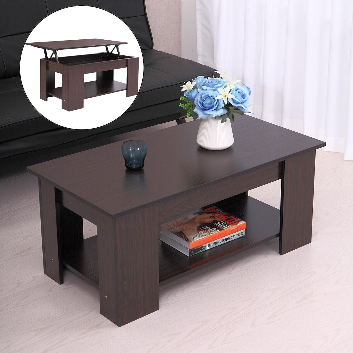 Modern Lift Top Coffee Table Space