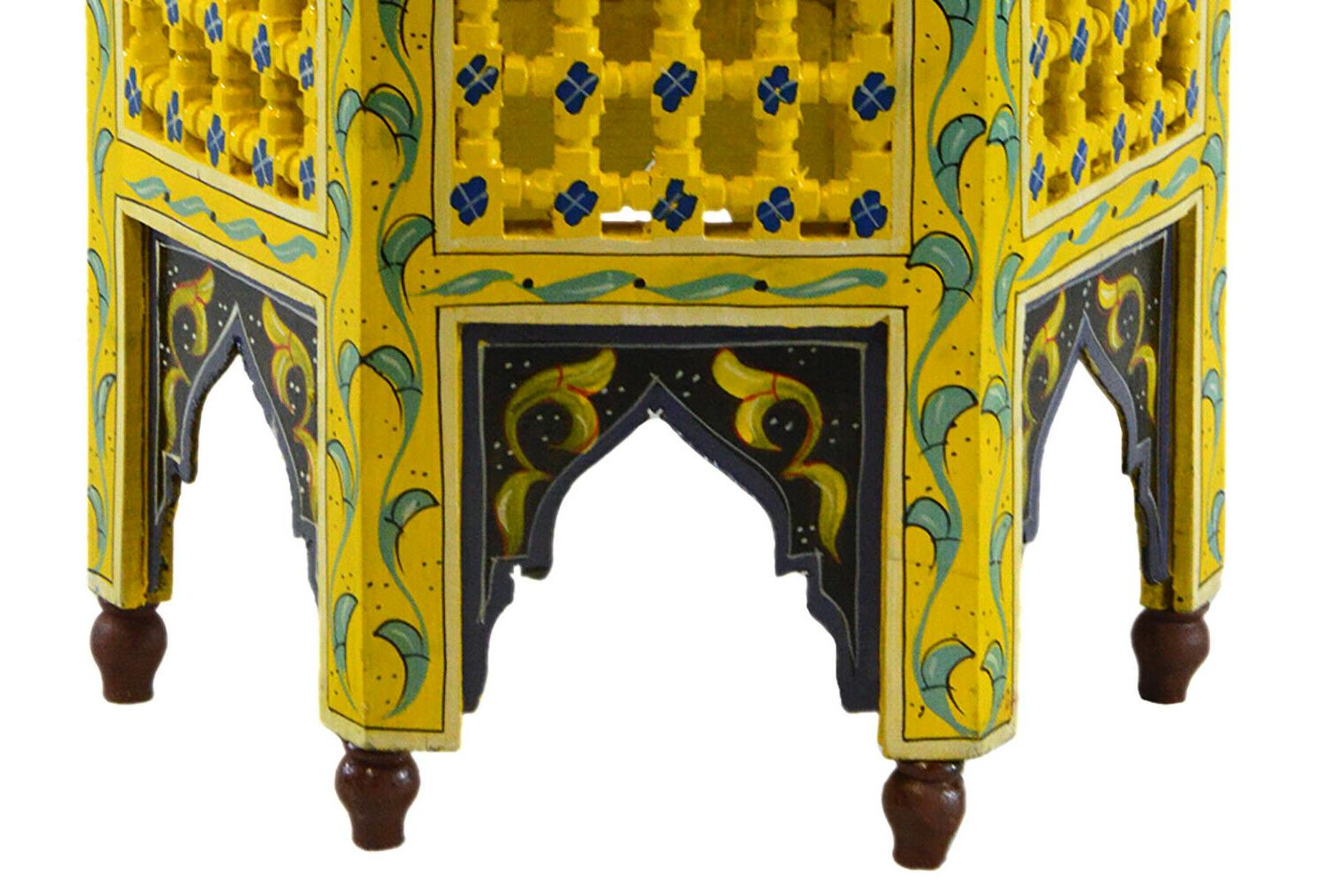 Moroccan Handmade Table Side Delicate Hand Exquisite yellow