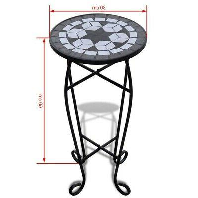 Mosaic Side Table Plant Flower for Balcony Terrace Indoor Outdoor