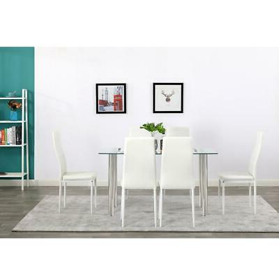 Hot Table Glass Metal Room Furniture White