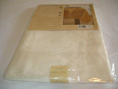 """New! Ivory Tablecloth Dining Table 52"""" x 52"""" Polyester"""