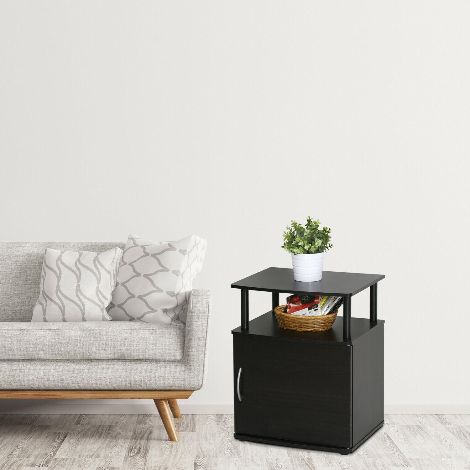 Nice End Tables Side Stand Nightstand w/ Shelf