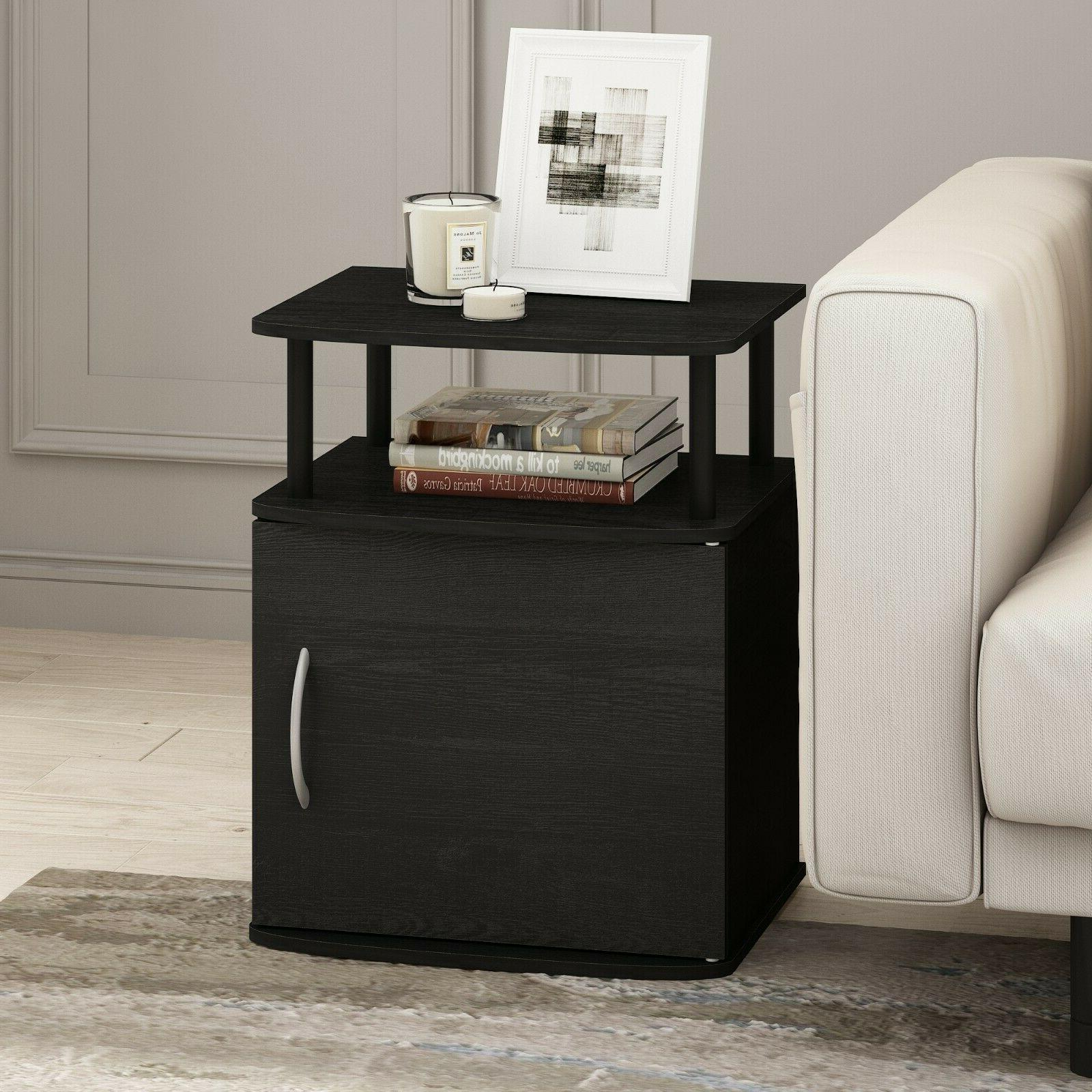 Nice of 2 End Tables Side Accent Nightstand