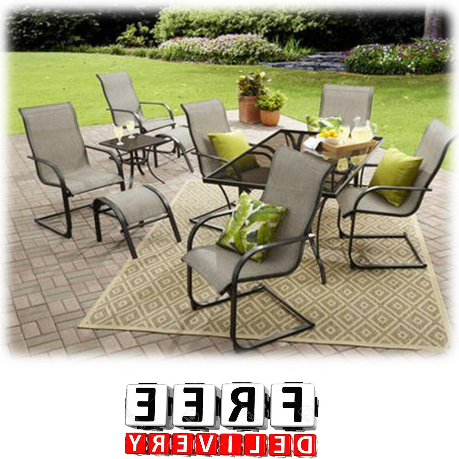 Outdoor Patio Dining Furniture Set 10 Piece Table Chairs Ott