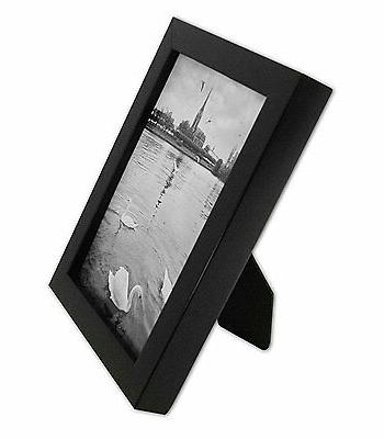 Pack of Ebony Black Wood picture frame GLASS