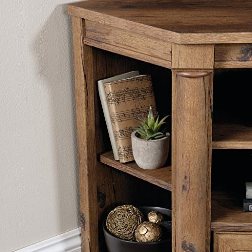 Sauder 420714 Entertainment Credenza, For up to Oak Finish