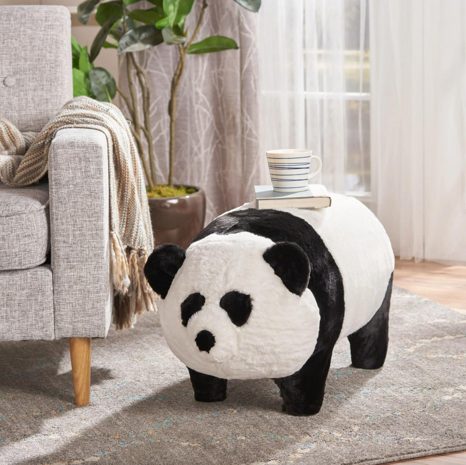 Panda Gifts For Kids Pouf Table ChristopherKnight Soft Foot