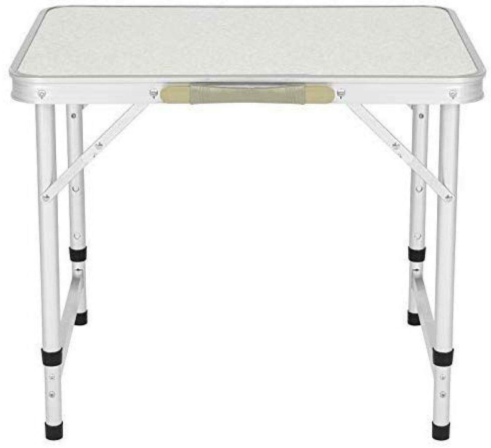 PICNIC FOLDING TABLE Aluminum Adjustable Legs Portable Camp