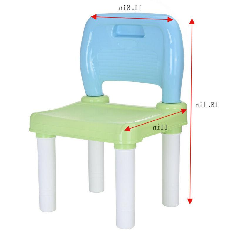 Plastic Kids And 2 Chairs For Boys Or Girls Toddler