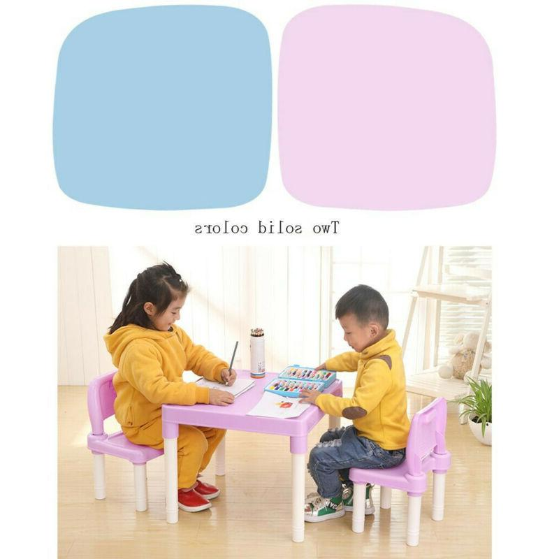 Plastic Table And 2 Set, For Toddler Activity