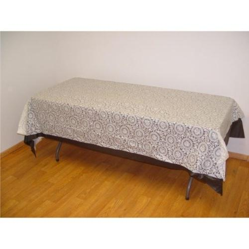 plastic tablecloth rectangle table