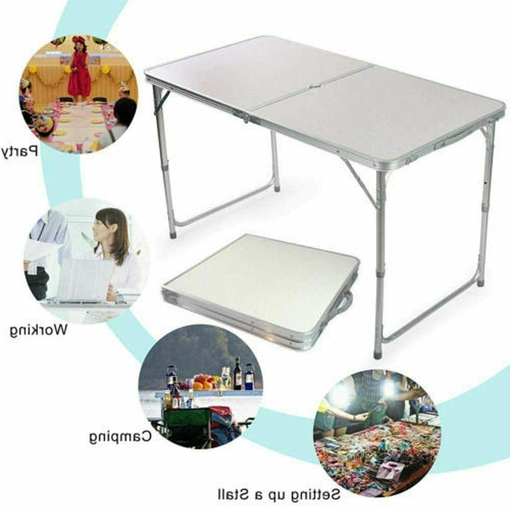 Portable Indoor Outdoor Aluminum Folding Table 4' Party US seller