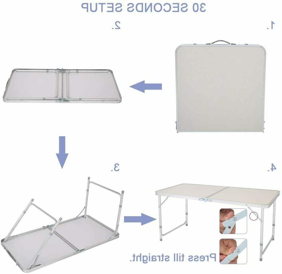 Portable Indoor Outdoor Aluminum Folding 4' Party US