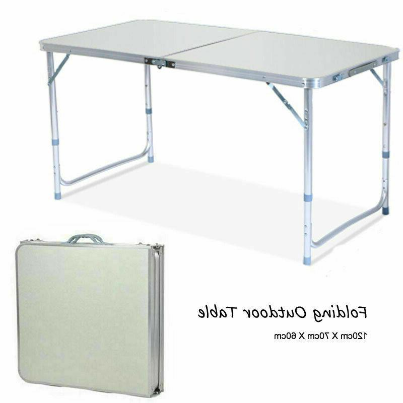 Folding Table Indoor Outdoor BBQ 4FT Portable Plastic Picnic