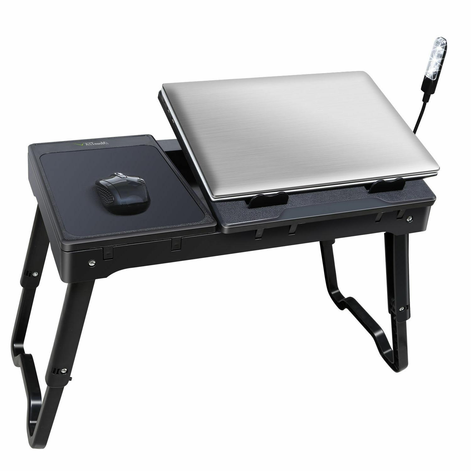 iMounTEK Portable Laptop Lap With Cooling Pad LED Lamp With USB
