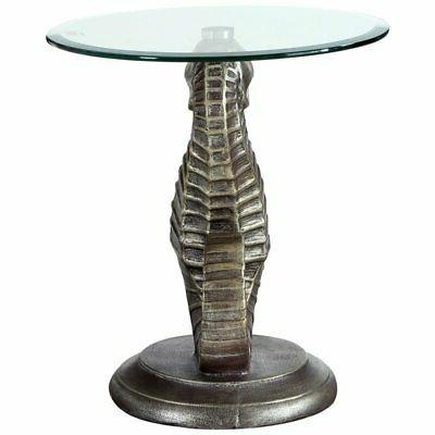Powell Satomi Seahorse Top Accent Table Bronze