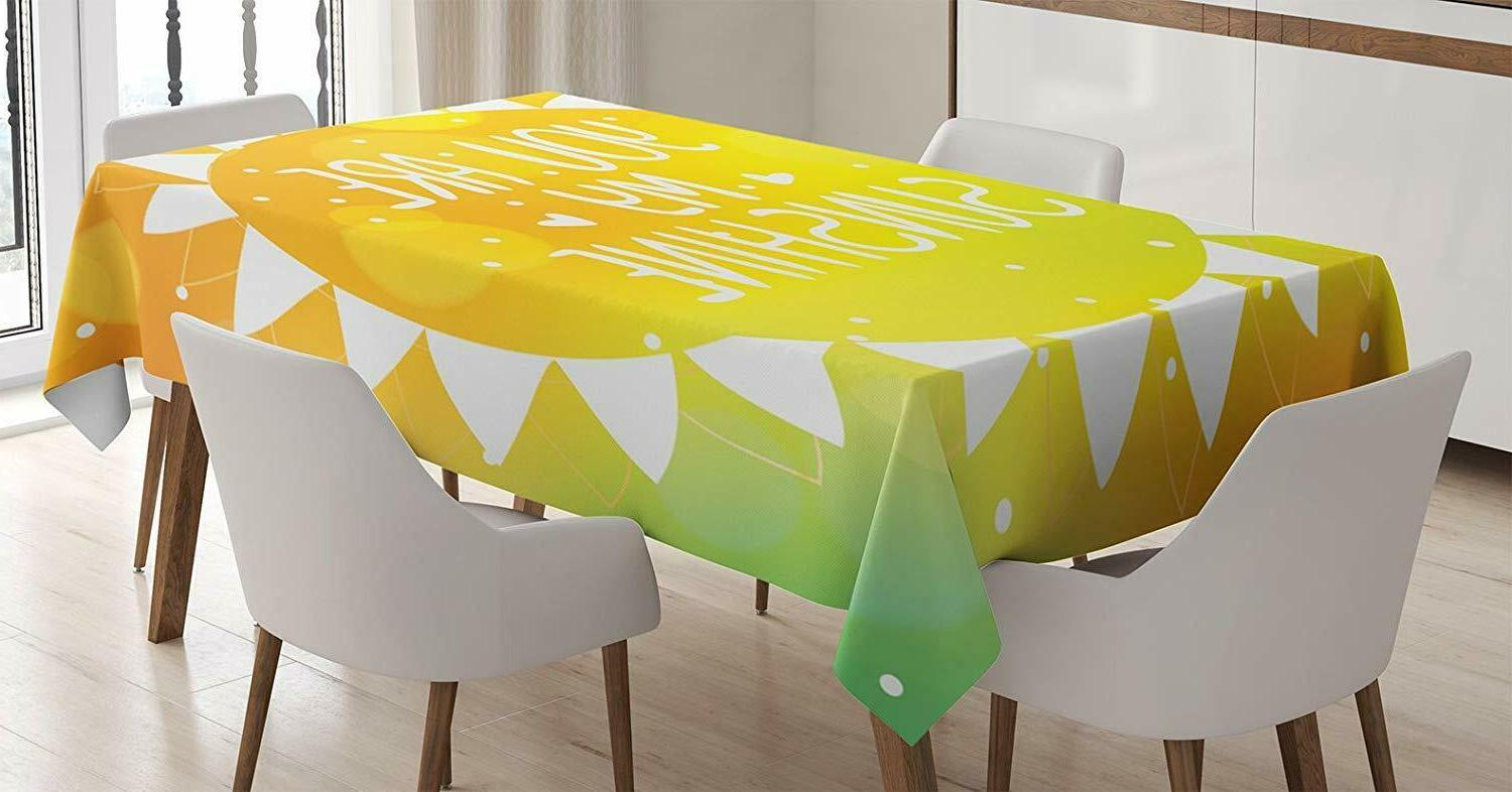quotes tablecloth sunshine phrase rectangular table cover