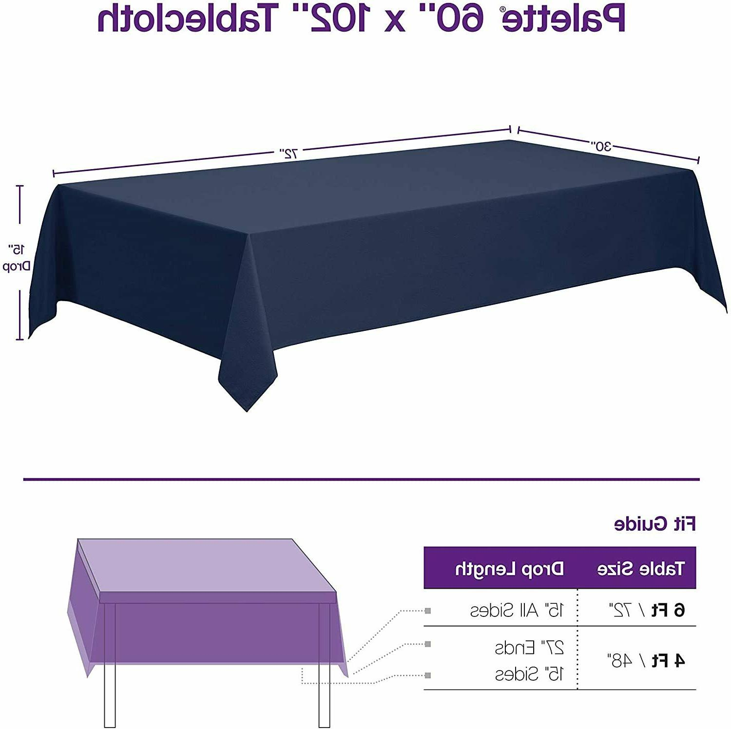 "Rectangle Tablecloth x 102"" Inch - Rectangular 6"