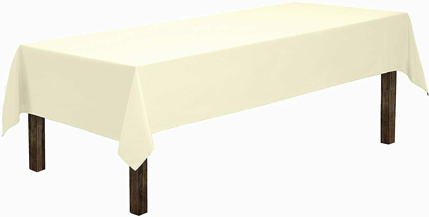 rectangle tablecloth 60 x 102 inch ivory