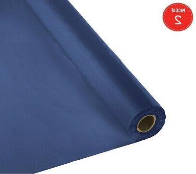 roll plastic table cover 100 feet navy