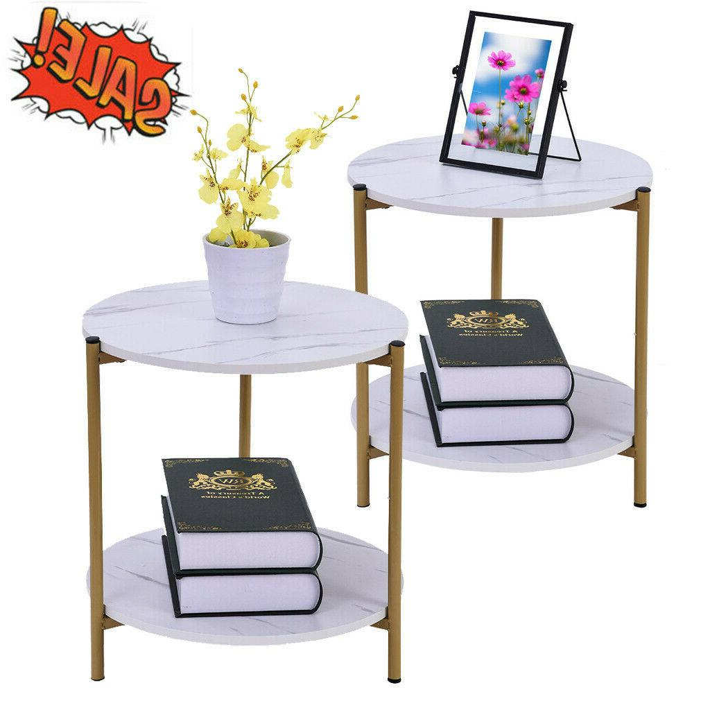 round nesting set of 2 end table