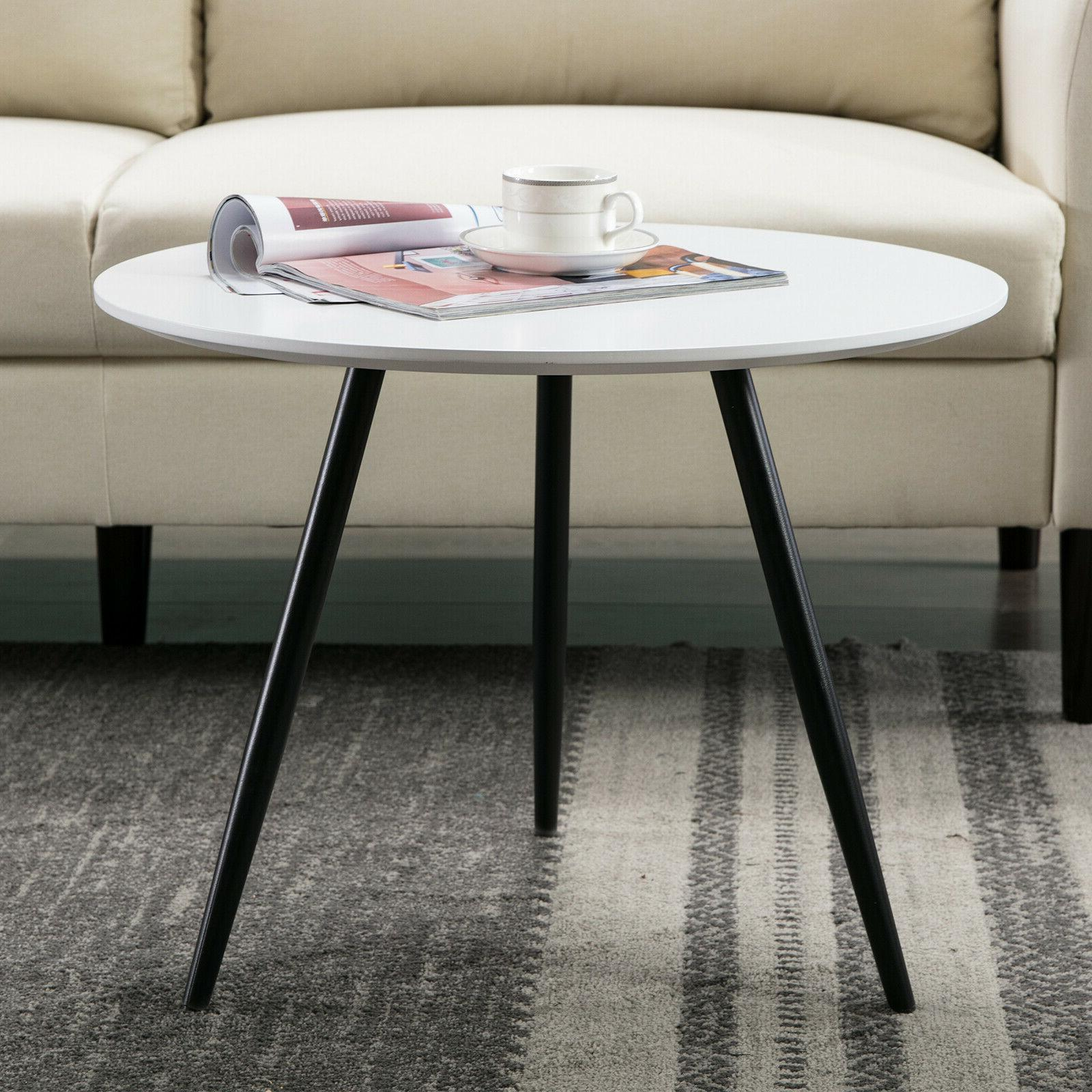 Modern Wood Round End Tables Console Coffee Sofa Side Table