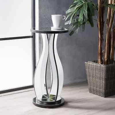 sena mirror side table by clear