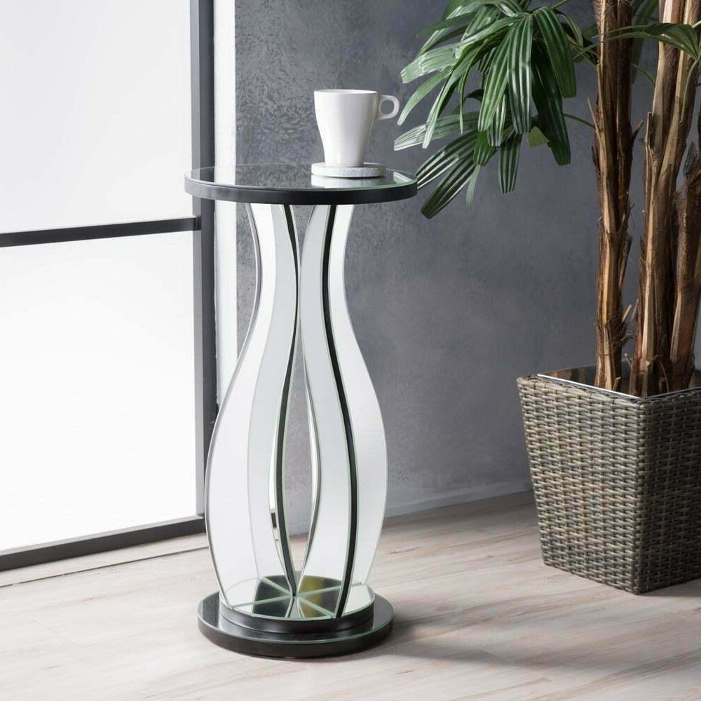 sena mirror side table by stylish modern