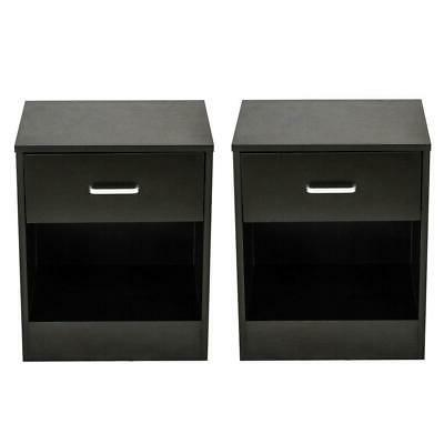 Set Stand End Table Bedroom Nightstand
